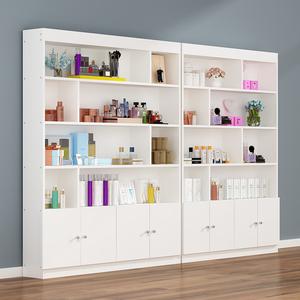 護膚品展示柜美甲柜子落地多功能彩妝小貨架化妝品柜美容院產品柜