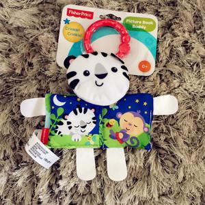 儿童早教玩具欧美婴儿布书牙胶响纸小猫小虎撕不烂图书车挂床挂
