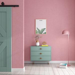 粉色壁纸卧室公主粉红网红北欧客厅纯色ins风店铺墙纸婚房女孩房