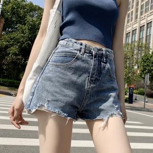 牛仔短褲女夏季2020年新款潮ins高腰顯瘦寬松闊腿網紅a字泫雅熱褲