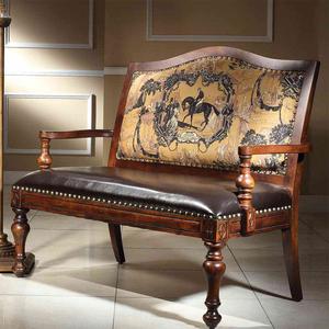 美式新古典布艺双人椅子欧式高背餐椅咖啡椅可定制客厅三人位沙发