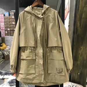 YOWLF雅洛菲1067女裝2019秋新款韓版中長款大碼顯瘦風衣外套MLZL