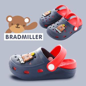 宝宝拖鞋1-3-5岁夏季女童包头幼儿软底防滑男孩沙滩鞋儿童洞洞鞋