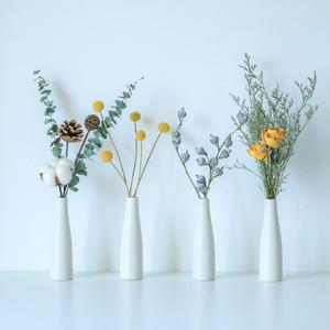 干花花束尤加利玫瑰白日式陶瓷清新INS简约现代客厅装饰家居摆件