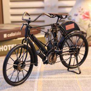 復古懷舊客廳擺件家居裝飾品創意鐵藝自行車模型酒柜擺設工藝品