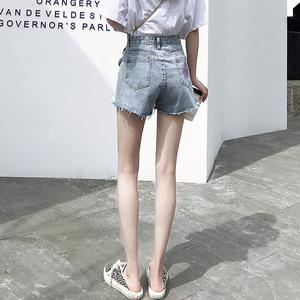 牛仔短裤女夏季薄款高腰宽松显瘦a字潮阔腿毛边韩版2020新款热裤