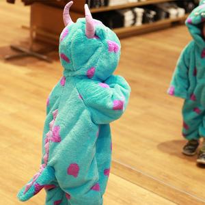 萬圣節兒童服裝毛怪蘇利文連體衣cos服寶寶動物造型衣服恐龍睡衣