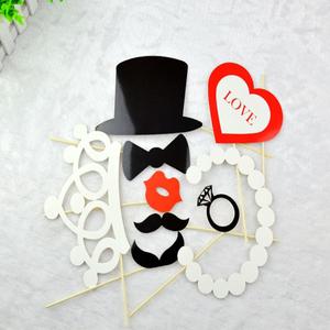婚庆求婚创意生日派对拍照小道具新款8件套角色扮演搞怪造型