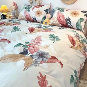 美式清新全棉純棉四件套床上用品網紅ins風床單三件套床笠被套4夏