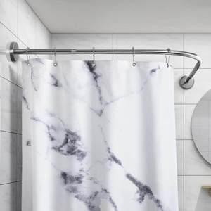 。防水帘子短便捷卫生间淋浴门防蚊纱冲凉房隔帘轨道转角架温泉饭