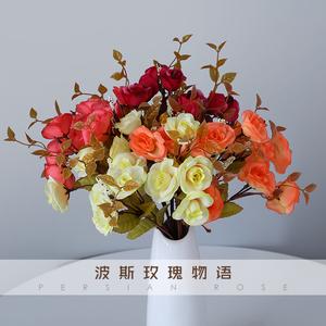 ?#32933;?#20223;真玫瑰花单束假玫瑰花客厅装饰花多款玫瑰仿真花束绢花假花