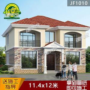 现代农村自建房设计图二层 欧式小别墅全套施工图纸 江西3d打印