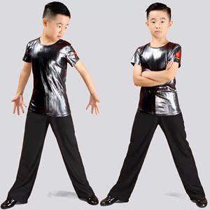 新品儿童男孩男童少儿拉丁舞比赛标准服舞蹈服装练功演出考级规定