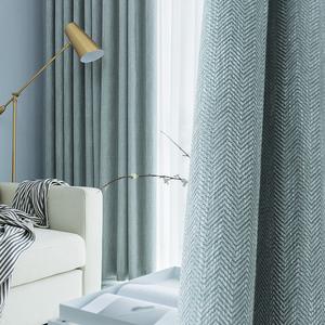 窗帘北欧简约现代卧室客厅轻奢棉麻网红款清新ins全布北欧风遮光