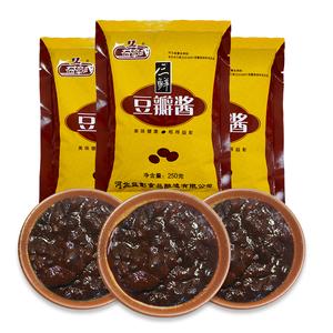 益彰三鲜豆瓣酱炒菜专用正宗葱蘸酱调味酱拌面酱黄豆250g*10袋装