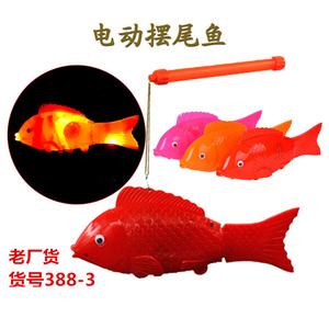 儿童小孩电动鱼玩具自由鱼摇摆鱼发光音乐鱼仿真会跑小鱼地摊热卖
