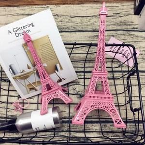 创意粉色艾菲尔模型巴黎埃菲尔铁塔装饰品摆件送少女心礼物礼品