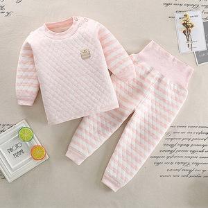 婴儿保暖5五6六7七12八九十个月女宝宝内衣服装秋冬装0-1-2-3-4岁