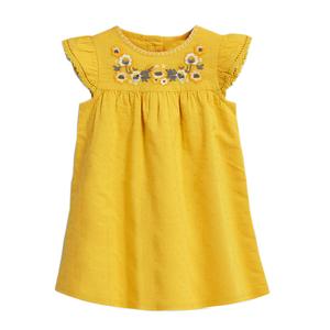 女童純棉短袖連衣裙寶寶繡花重工公主裙兒童外貿夏裝嬰兒小童裙子