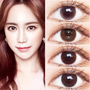 2片裝美樂菲棕色美瞳自然大小直徑網紅同款混血隱形近視眼鏡