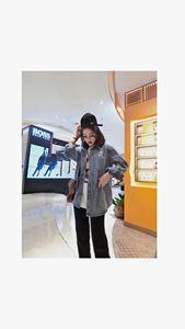 韩版牛仔衬衫女可爱卡通图案学生减龄百搭宽松ins慵懒2019冬新款