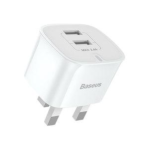 【自营】BASEUS/倍思 英规双USB手机充电头 香港旅行充电器