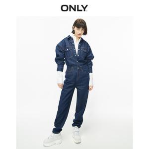 11.15上新ONLY2019冬季新款工装风宽松牛仔连体裤女|120164501
