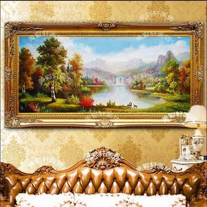 玄关三只鹿的风景油画