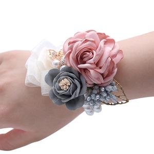 新娘伴娘手腕花姐妹团手花结婚礼韩式清新唯美晚宴年会舞蹈手环用