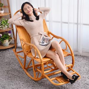 植雅轩真藤椅摇摇椅 老人藤摇椅 躺椅逍遥椅阳台休闲躺椅户外椅