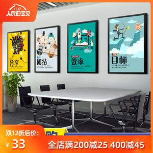 办公室挂画装饰画公司企业文化墙励志标语会议室墙面装饰墙画壁画