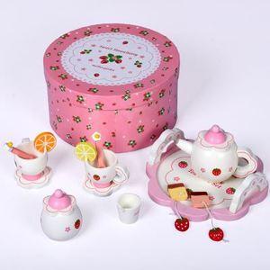 新品草莓寶寶生日禮物木制巧克力蛋糕玩具 女孩切切過家家樂玩具