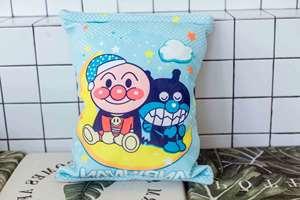 创意可爱卡通一口袋零食抱枕靠垫内含8只玩?#22841;?#20844;仔毛绒玩具礼物