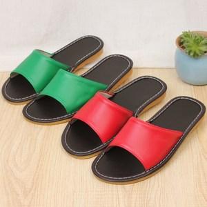 特价居家皮拖鞋夏季家居室内情侣地板拖鞋男女海宁真皮防滑凉拖鞋