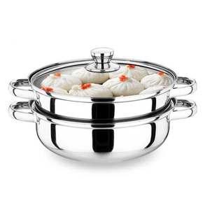 蒸煮学生不锈钢蒸锅28cm不锈钢锅大锅发糕小型托盘容量饭店天然气