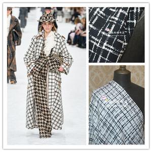 英国时尚品牌尾货布料英国产粗花呢面料外套大衣风衣裙裤马甲