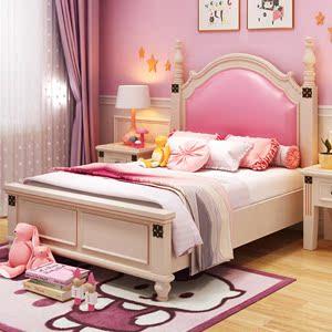公主床少女梦幻城堡粉色女儿房单人床 粉色韩式田园女孩子公主床