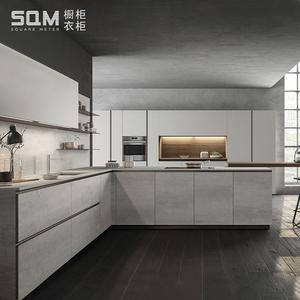 成都现代整体橱柜定制厨房厨柜定做轻奢开放式厨房装修全屋定制