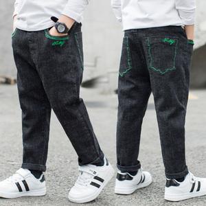 男童秋装新款牛仔裤子3五5六6七7八到十岁男孩韩版洋气休闲长裤潮