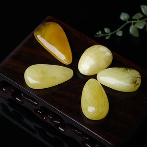 淼源珠宝行天然琥珀蜜蜡原石吊坠项链男女款鸡油黄水滴随形吊坠