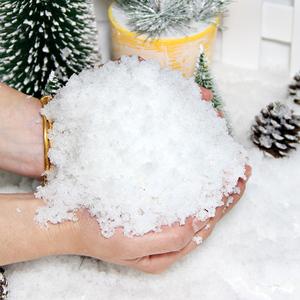 人造雪仿真雪花圣诞装饰品外网兑水变雪粉泥橱窗婚庆摄影拍戏道具