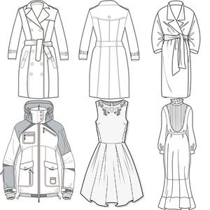 服装设计款式图代画/效果图/服装款式图代画效果图代画ps ai cdr图片