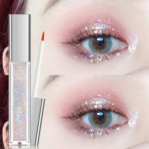 亮晶晶的眼影單色珠光閃光閃粉亮片持久不暈染閃亮鑽石人魚姬金色