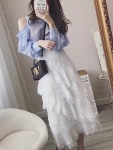 2019新款夏装时尚初春秋洋气俏皮气质法国小众御姐两件套装仙女裙