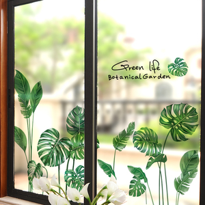 創意個性玻璃門貼紙3d立體窗戶廚房裝飾窗花貼衛生間陽台貼畫自粘