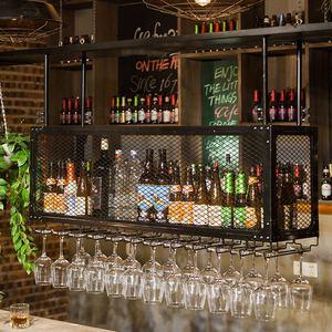 紅酒杯架倒掛創意高腳杯架懸掛酒杯吊架吧臺紅酒架雙層掛杯架酒吧
