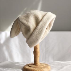 垂感兔耳朵毛線帽子女秋冬ins針織帽冬天保暖韓版日系網紅冷帽潮