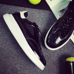 香港IT代购?#34892;?#21402;底镜面反光鞋明星同款原宿板鞋个性潮鞋2019新款