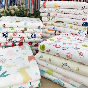 無熒光卡通布純棉a類嬰兒布料柔軟寶寶針織床品新生兒包被衣服布