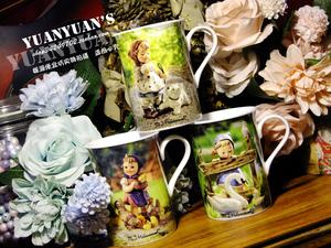 德国古董喜姆娃娃Hummel陶瓷娃娃乡村郊野农场和小动物马克杯 3款